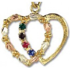 Mothers Pendant with 1 to 4 Genuine Birthstones by Landstroms