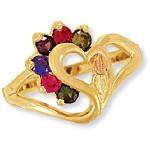 Mothers Ring with 1 to 7 Genuine Birthstones - by Landstroms