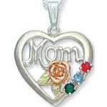 Mothers Pendant with 1 to 6 Genuine Birthstones by Landstroms